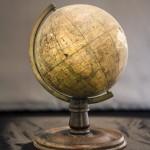 This globe sat upon Stevenson's writing desk in Samoa.