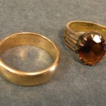 Stevenson's wedding ring and one given to him by Fanny and Belle while they lived in Samoa.