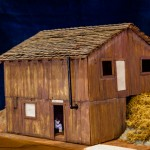 This is a model of the Silverado Squatters' cabin which was where the Stevensons stayed on Mount. St. Helena.